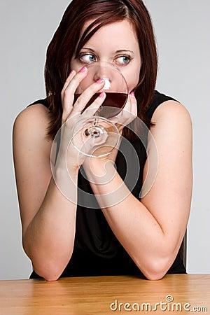 Free Woman Drinking Wine Royalty Free Stock Photo - 7519205