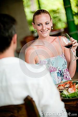 Free Woman Drinking Wine Stock Image - 9998641
