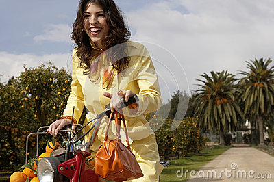 Woman Driving Bike