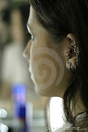 Woman with ear-rings