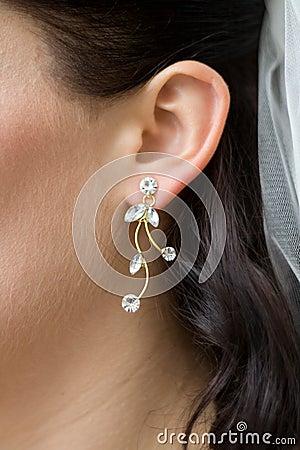 Free Woman Earring Bride Royalty Free Stock Photo - 6002285