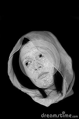 Woman earth face