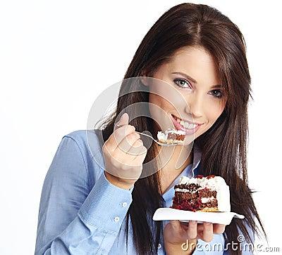 Free Woman Eating Cake Stock Photo - 8842420