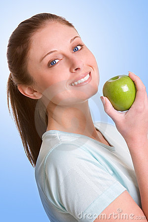 Free Woman Eating Healthy Royalty Free Stock Image - 2120586