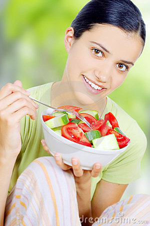 Free Woman Eating Healthy Food Royalty Free Stock Image - 5496976