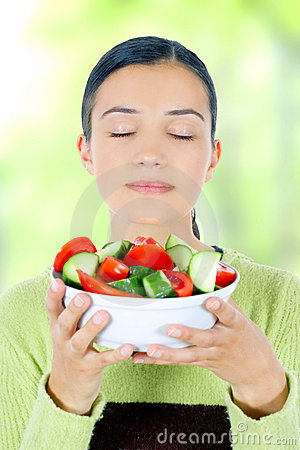 Free Woman Eating Healthy Food Royalty Free Stock Photo - 5496995