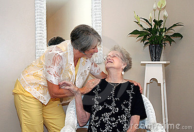 Woman and Elderly Mother