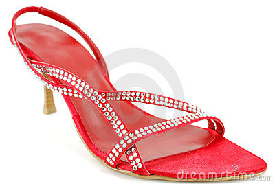 Woman elegance red shoe