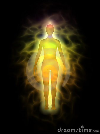 Woman - energy body - aura