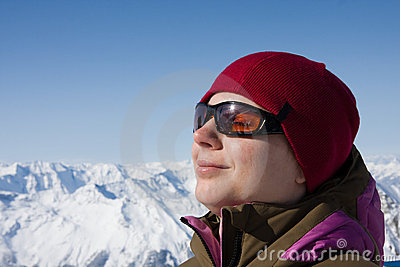 Woman Enjoy Sun In Winter Royalty Free Stock Photos - Image: 12441948