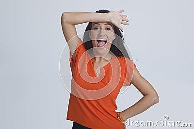 Woman enjoying