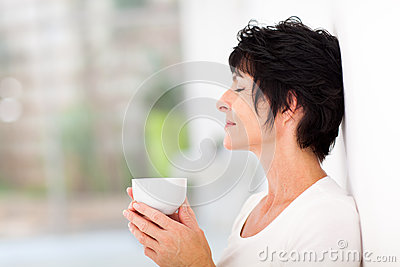 Woman enjoying coffee