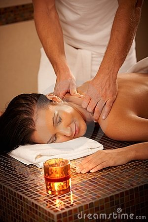 Free Woman Enjoying Massage Royalty Free Stock Photo - 18240275