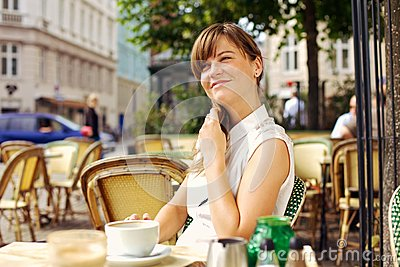 Woman Enjoying the Pleasant Morning with Coffee
