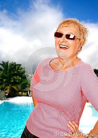 Woman enjoying a sunny holiday