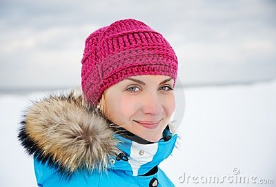 Woman enjoying winter day