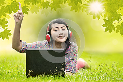 Woman enjoys the summer day