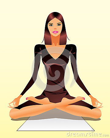 Woman exercising yoga meditation