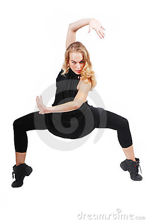 Woman exerising or dancing