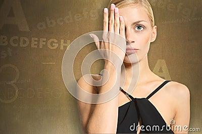 woman in the eye