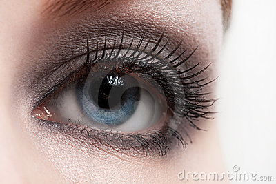Woman eye with makeup
