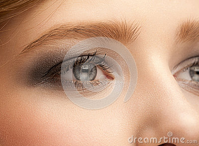 Woman Eye With Makeup Royalty Free Stock Photo - Image: 27860655