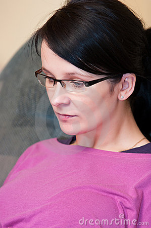 Woman in eyeglasses portrait