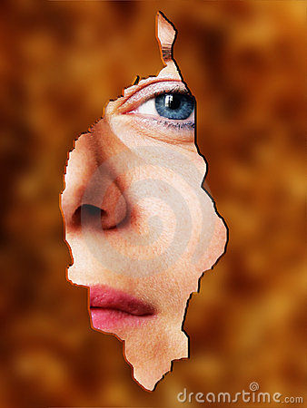 Woman face behind