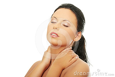 Woman face with clean skin