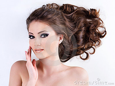 Woman face with  clear healthy skin