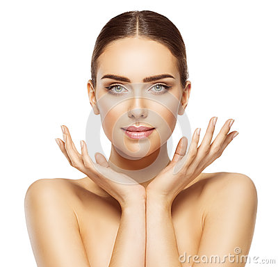 Free Woman Face Hands Beauty, Skin Care Makeup, Beautiful Make Up Royalty Free Stock Photography - 87294467