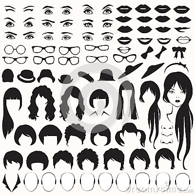 Free Woman Face Parts, Stock Image - 40398911