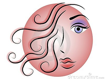 Woman Face Web Logo or Icon