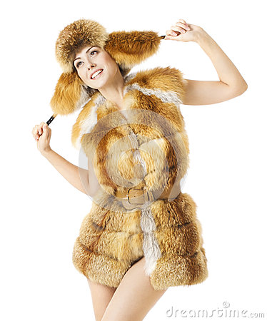 Free Woman Fashion Beauty Portrait, Sexy Model Girl In Winter Season Royalty Free Stock Image - 46522536