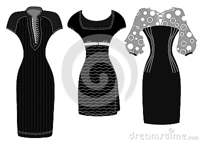 Woman fashion dresses isolated on white background