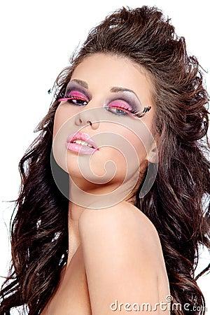 Woman fashion face portrait or beauty