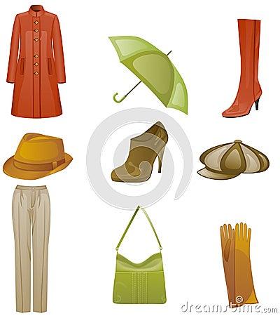 Woman fashion icon set