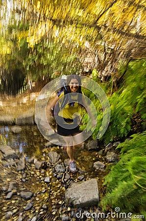 Woman Fast Hiker