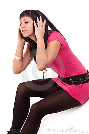Woman feeling the music