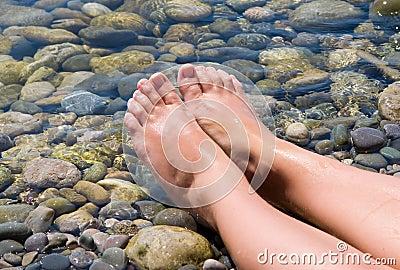 Woman feet relax