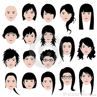 Woman female Face Hair Hairstyle