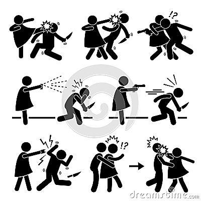Woman Female Girl Self Defense