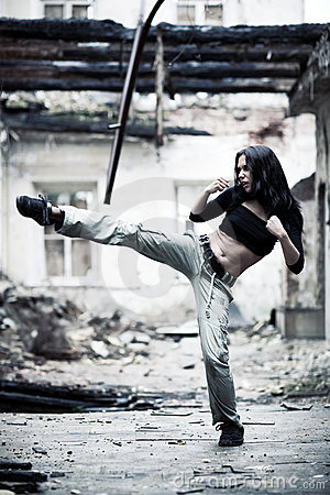Woman fighter