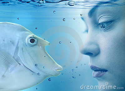 Woman and fish