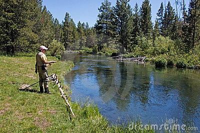 Woman Fishing With Pink Hat And Pink Fishing Line