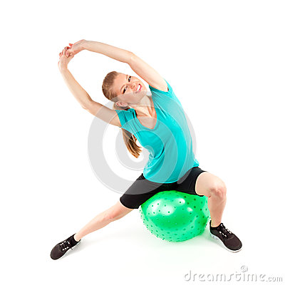 Woman fitball