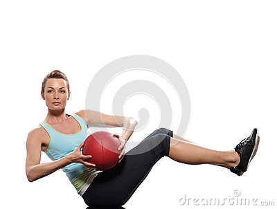 Woman fitness ball Worrkout Posture exercise