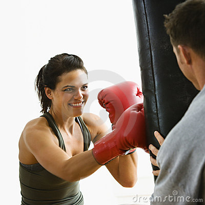 Woman fitness training