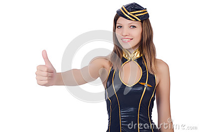 Woman flight attendant