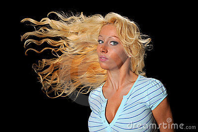 Woman Flipping Hair